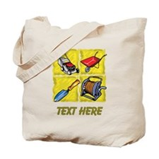 Gardening Tools and Text. Tote Bag