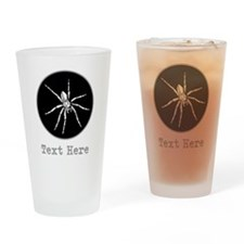 Spider and Gray Custom Text. Drinking Glass