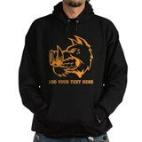 Orange Wild Pig and Text. Hoodie