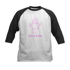 Pink Pig with Custom Text. Tee