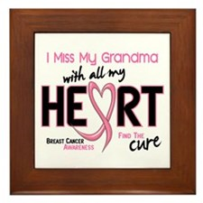 Miss My Grandma With All My Heart Breast Cancer Fr