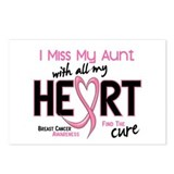 Miss My Aunt With All My Heart Breast Cancer Postc