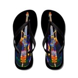 The Electric Bass Guitar Flip Flops