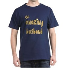 The Amazing Husband Black T-Shirt