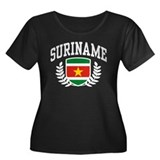 Suriname Women's Plus Size Scoop Neck Dark T-Shirt