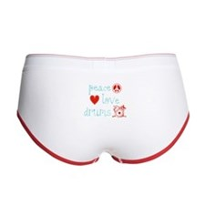 Peace, Love and Drums Women's Boy Brief
