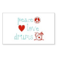 Peace, Love and Drums Decal