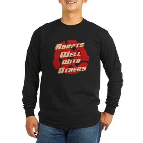 Adapts Well Long Sleeve Dark T-Shirt
