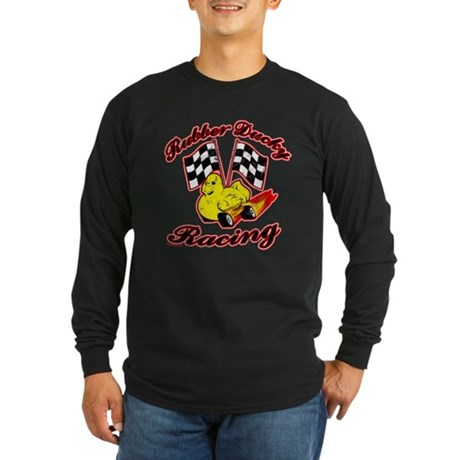 Rubber Ducky Racing Long Sleeve Dark T-Shirt