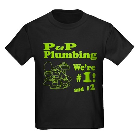 P P Plumbing Kids Dark T-Shirt