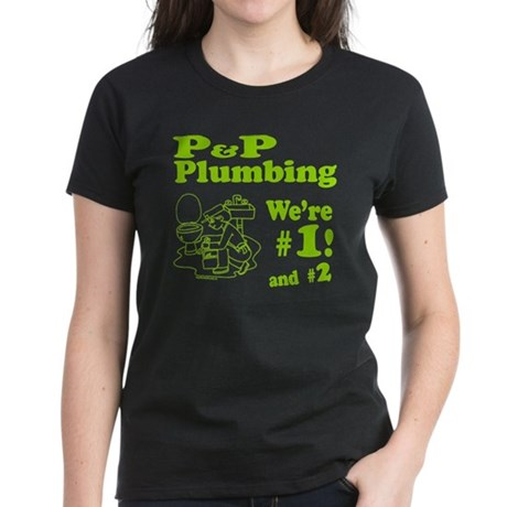 P P Plumbing Women's Dark T-Shirt