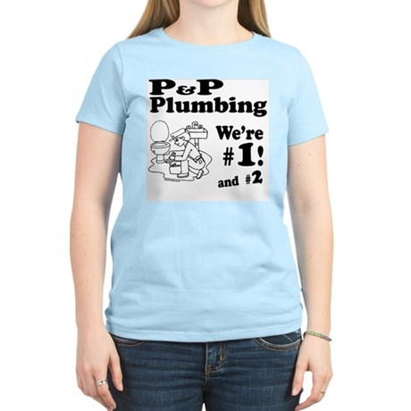 P P Plumbing Women's Light T-Shirt