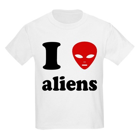 I Love Aliens Kids Light T-Shirt