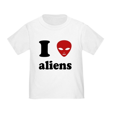 I Love Aliens Toddler T-Shirt