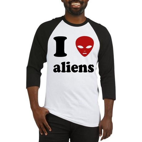 I Love Aliens Baseball Jersey