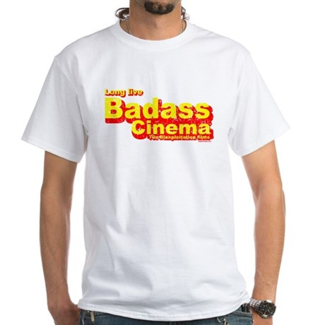 Badass Cinema White T-Shirt