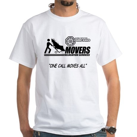 Orchid Movers LOST White T-Shirt