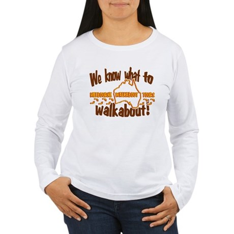 Melbourne Walkabout Tours Womens Long Sleeve T-Sh