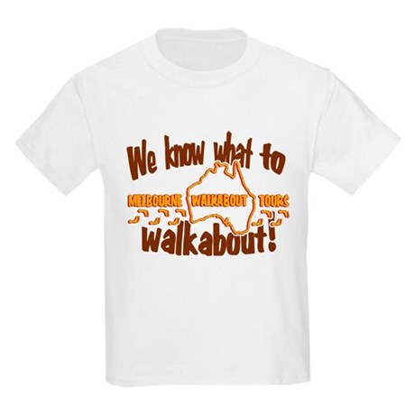 Melbourne Walkabout Tours Kids Light T-Shirt