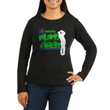 Oceanic Island Open Womens Long Sleeve Dark T-Shi