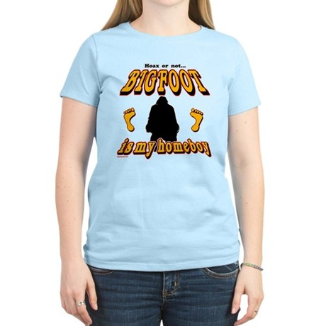 Bigfoot is my Homeboy Womens Light T-Shirt
