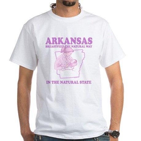 Arkansas White T-Shirt