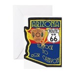 AZ HP Route 66 Greeting Cards (Pk of 10)