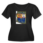 AZ HP Route 66 Women's Plus Size Scoop Neck Dark T