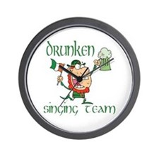 St Patrick's drunken singing Wall Clock