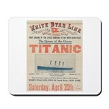 Titanic Advertising Card Mousepad