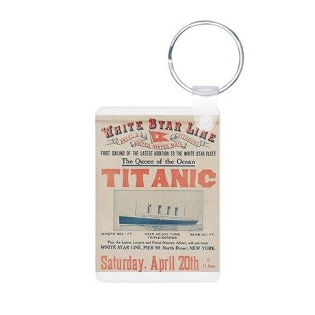 Titanic Advertising Card Aluminum Photo Keychain