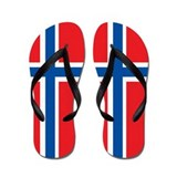 Norway Flag Flip Flops