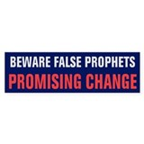 Beware False Prophets Bumper Sticker