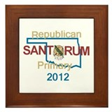 Santorum OKLAHOMA Framed Tile