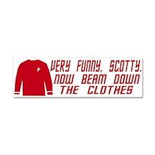 Red Shirt Society Car Magnet 10 x 3
