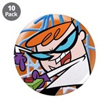 "Dexter's Lab 3.5"" Button (10 pack)"
