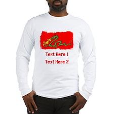 Dragon with Custom Writing. Long Sleeve T-Shirt