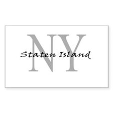 Staten Island Rectangle Decal