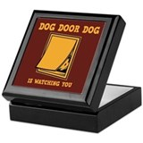 Dog Door Dog Keepsake Box