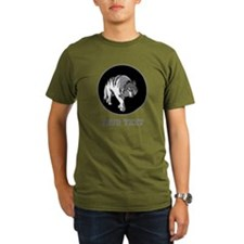 Wolf and Writing in Gray. T-Shirt