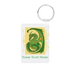 Fancy Dragon and Custom Text Keychains