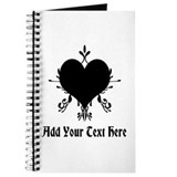 Elegant Black Heart and Text. Journal
