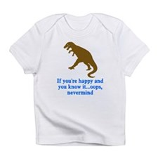 T Rex Can't Clap Hands Infant T-Shirt