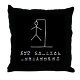 Ironic Hangman Throw Pillow