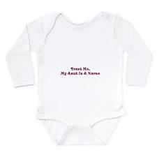 Cute Trust me nurse Long Sleeve Infant Bodysuit