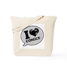 I Love Comics Tote Bag
