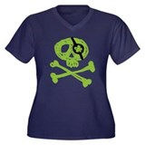 Funny St. Patty's Pirate Women's Plus Size V-Neck