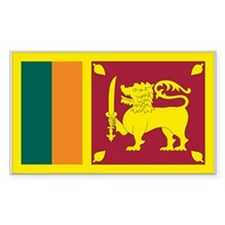 Sri Lanka Rectangle Decal