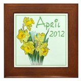 Cute Gardening Framed Tile