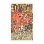 Bilibin's Red Horseman Rectangle Sticker